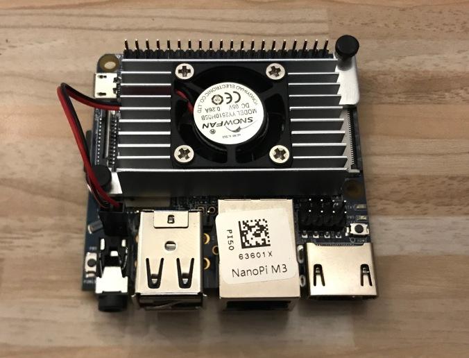 Nano Pi M3 mit Kuehlkoerper